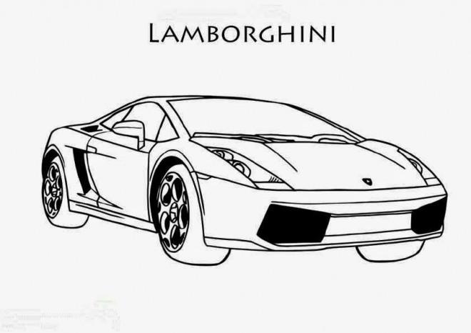 Coloriage et dessins gratuits Lamborghini stylisé à imprimer