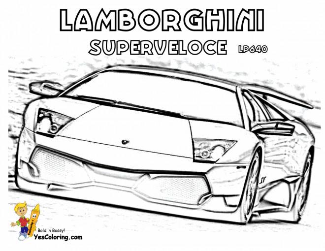 Coloriage et dessins gratuits Lamborghini Superveloce à imprimer