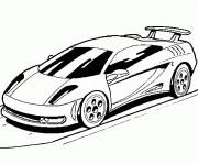 Coloriage et dessins gratuit Lamborghini sur la route à imprimer