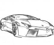 Coloriage et dessins gratuit Lamborghini vecteur à imprimer