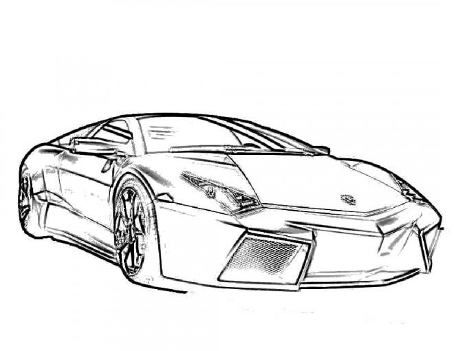 Coloriage et dessins gratuits Lamborghini vecteur à imprimer