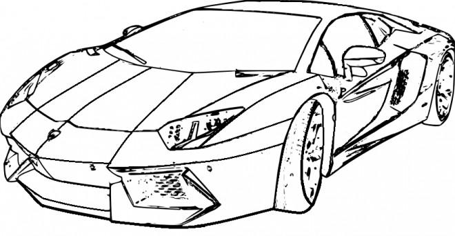 Coloriage et dessins gratuits Lamborghini Veneno à imprimer