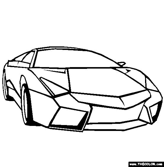 Coloriage et dessins gratuits Lamborghini Veneno Extérieur à imprimer
