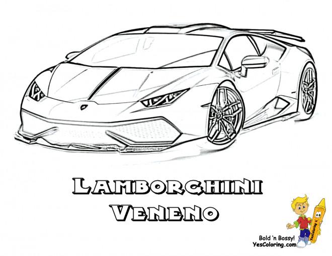 Coloriage A Imprimer Lamborghini.Coloriage Lamborghini Veneno La Puissante Dessin Gratuit A