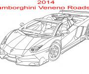 Coloriage et dessins gratuit Lamborghini Veneno Roadster à imprimer