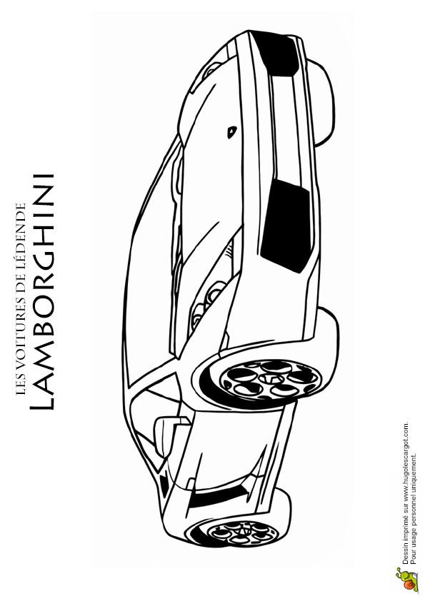 Coloriage et dessins gratuits Lamborghini voiture VIP à imprimer