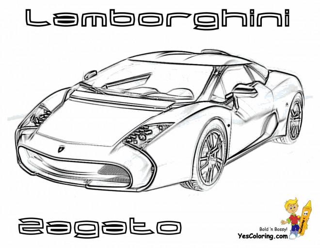 Coloriage et dessins gratuits Lamborghini Zagato à imprimer