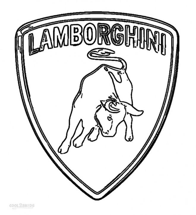 Coloriage logo de la maison de voiture lamborghini - Lamborghini a colorier ...