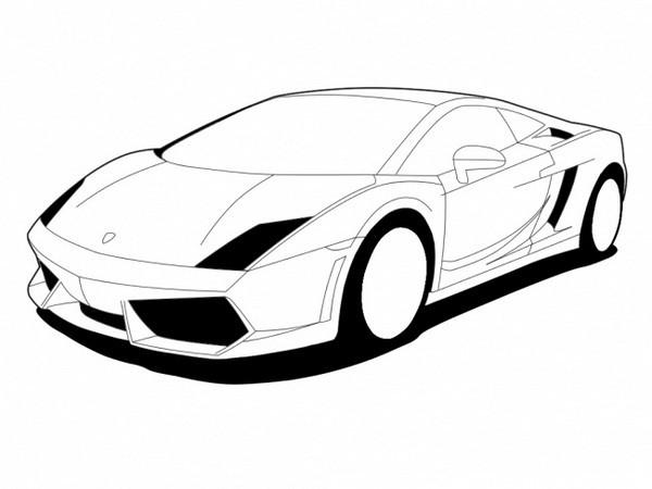 Coloriage Une voiture Lamborghini vectoriel dessin gratuit ...