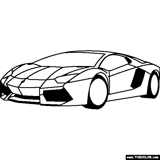 Coloriage et dessins gratuits Voiture de Luxe Lamborghini à imprimer