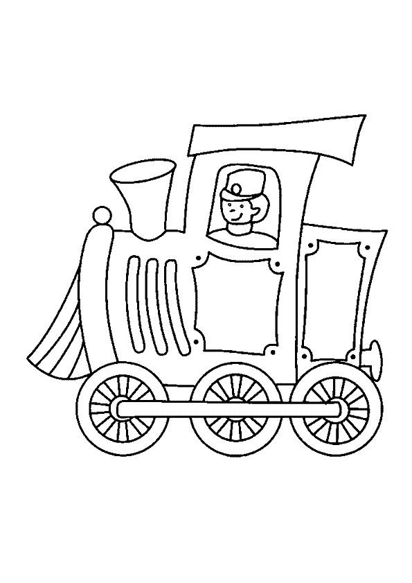 Coloriage et dessins gratuits Conducteur de train  Locomotive à imprimer