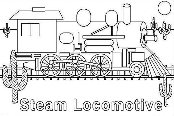 Coloriage et dessins gratuits Illustrations Locomotive à vapeur à imprimer