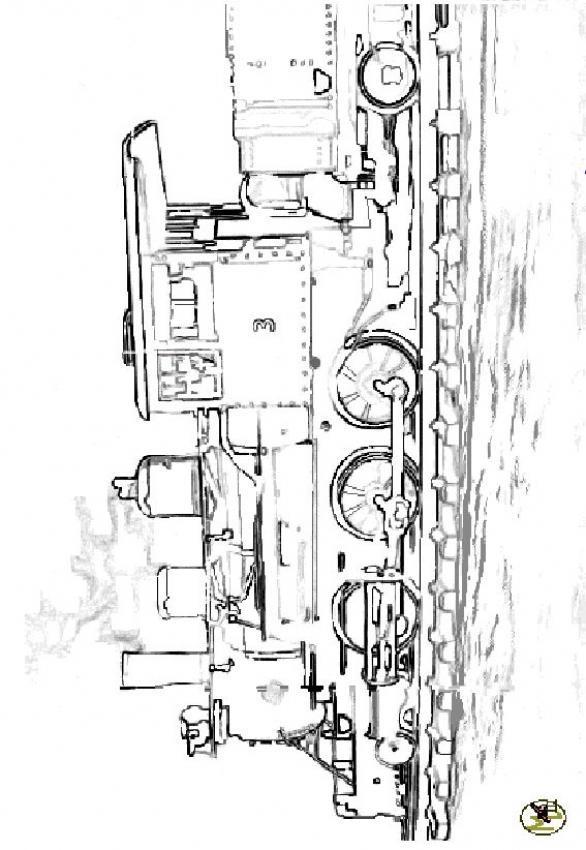 Coloriage et dessins gratuits Image Locomotive et Wagon à imprimer