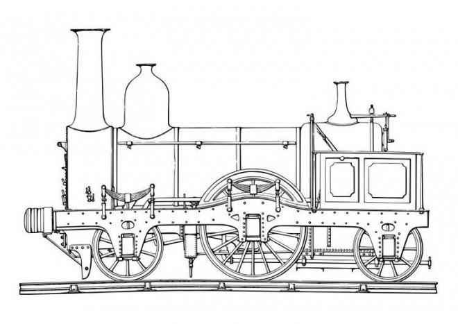 Coloriage et dessins gratuits La Locomotive à vapeur en ligne à imprimer