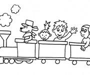 Coloriage et dessins gratuit Les petits amis du rail à imprimer