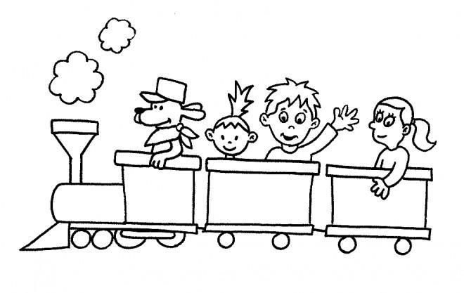 Coloriage et dessins gratuits Les petits amis du rail à imprimer