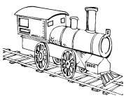 Coloriage Locomotive 12