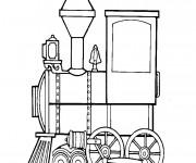 Coloriage Locomotive 4