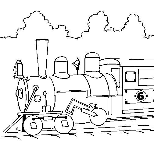 Coloriage et dessins gratuits Locomotive à découper à imprimer