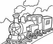 Coloriage Locomotive à télécharger