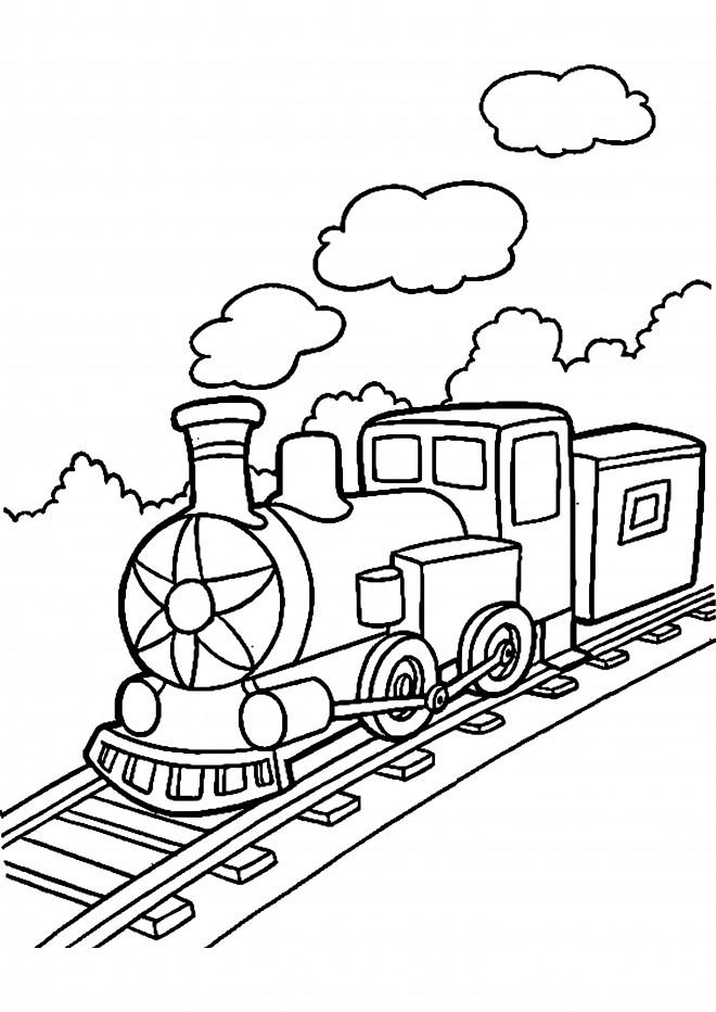 Coloriage et dessins gratuits Locomotive à télécharger à imprimer