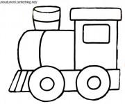 Coloriage Locomotive à vapeur