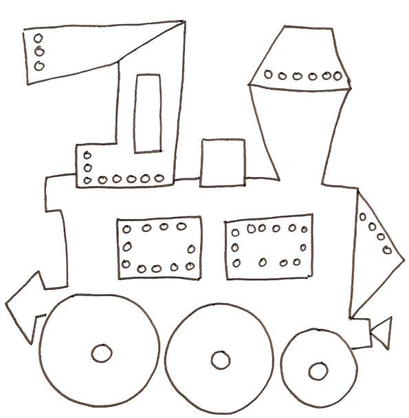 Coloriage et dessins gratuits Locomotive à vapeur au crayon à imprimer
