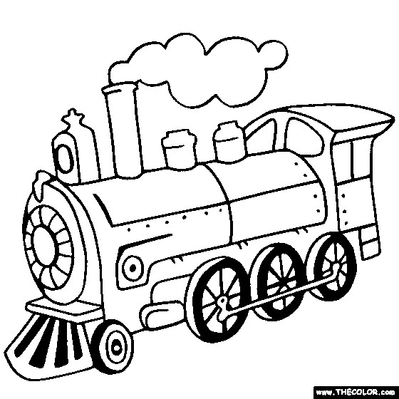 Coloriage Locomotive A Vapeur Classique Dessin Gratuit A Imprimer