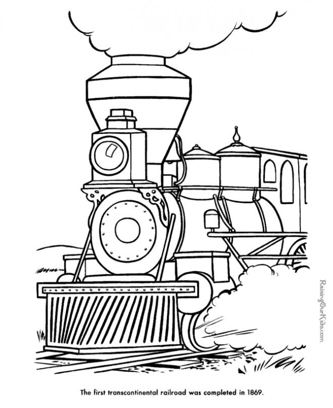 Coloriage et dessins gratuits Locomotive à vapeur classique à colorier à imprimer
