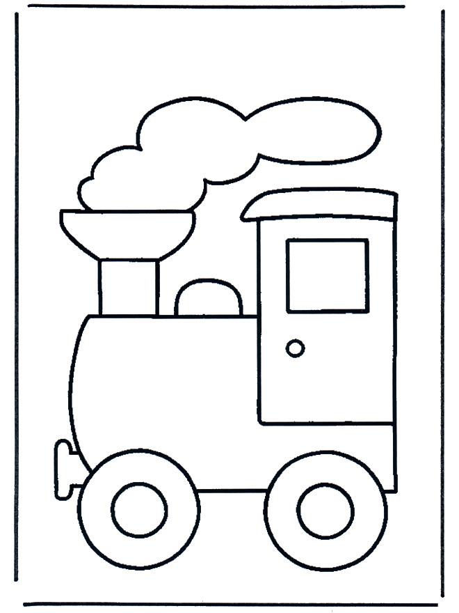 Coloriage et dessins gratuits Locomotive à vapeur encadrée à imprimer