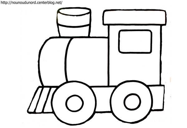 Coloriage Locomotive A Vapeur Facile Dessin Gratuit A Imprimer