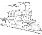 Coloriage Locomotive couleur