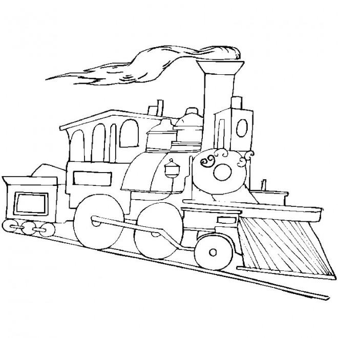 Coloriage et dessins gratuits Locomotive couleur à imprimer
