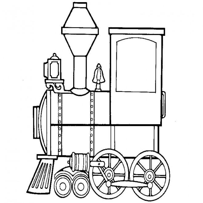 Coloriage locomotive de train vapeur dessin gratuit imprimer - Coloriage train a vapeur a imprimer ...