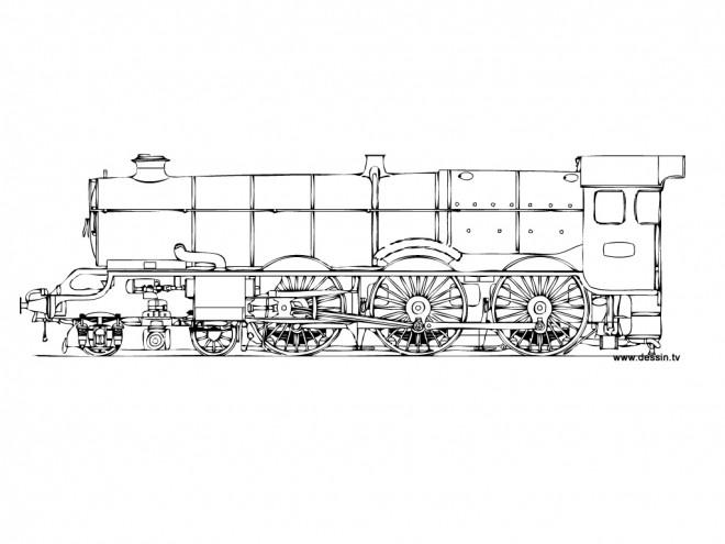 Coloriage et dessins gratuits Locomotive de train ancienne à imprimer