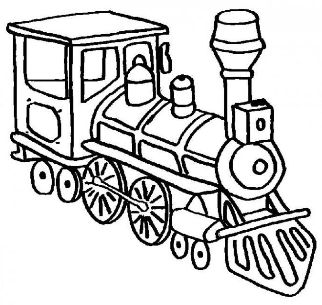 Coloriage et dessins gratuits Locomotive de train moyen de transport à imprimer