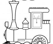 Coloriage Locomotive dégage la Fumée