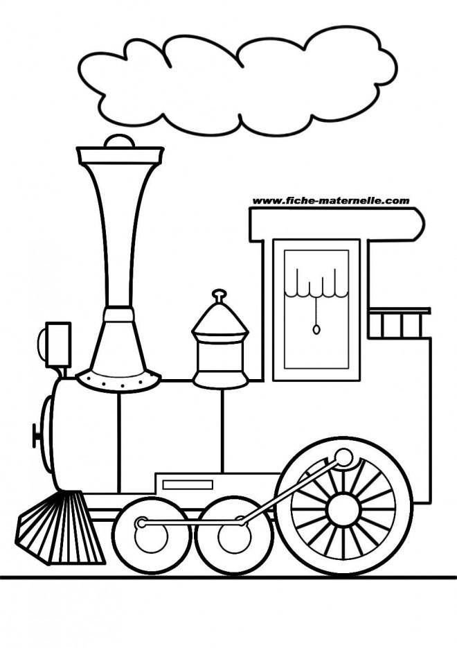 Coloriage et dessins gratuits Locomotive dégage la Fumée à imprimer