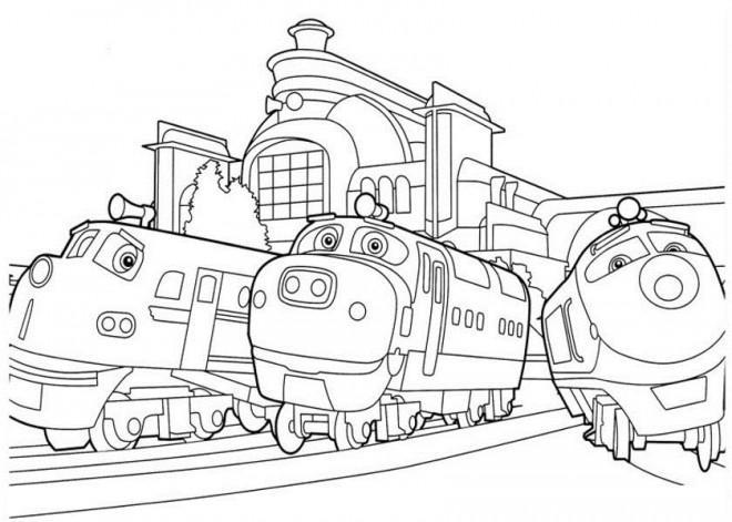 Coloriage et dessins gratuits Locomotive dessin animé Français à imprimer