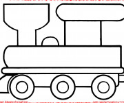 Coloriage Locomotive facile