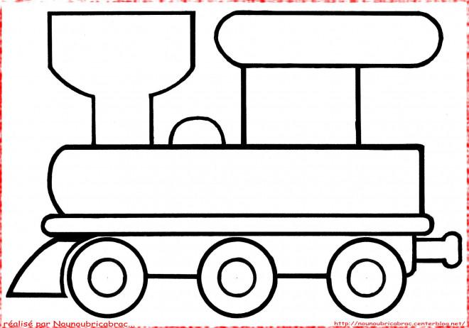 Coloriage et dessins gratuits Locomotive facile à imprimer