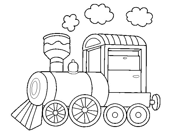Coloriage Locomotive Machine A Vapeur Dessin Gratuit A Imprimer