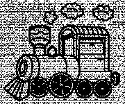 Coloriage Locomotive maternelle