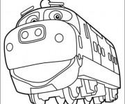Coloriage Locomotive rigolo