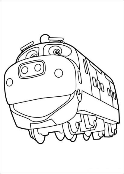 Coloriage et dessins gratuits Locomotive rigolo à imprimer