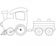 Coloriage et dessins gratuit Locomotive simple à imprimer