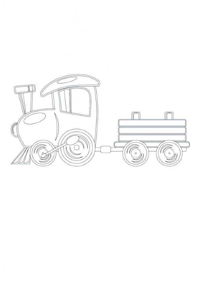 Coloriage et dessins gratuits Locomotive stylisé magique à imprimer