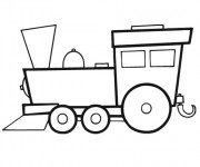 Coloriage Locomotive vecteur