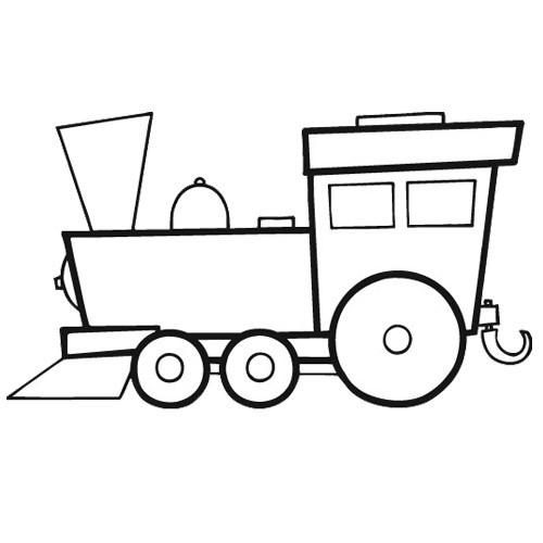 Coloriage et dessins gratuits Locomotive vecteur à imprimer