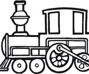 Coloriage Locomotive vectoriel